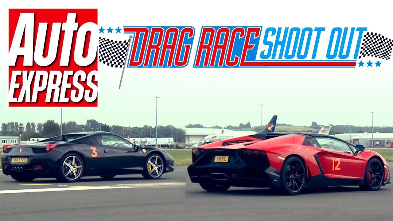 Ferrari 458 Spider vs Lamborghini Aventador Roadster 50th ...
