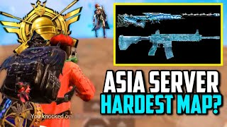 MAX M416 GLACIER & GODZILLA AWM GAMEPLAY ON ASIA'S HARDEST MAP! | PUBG Mobile