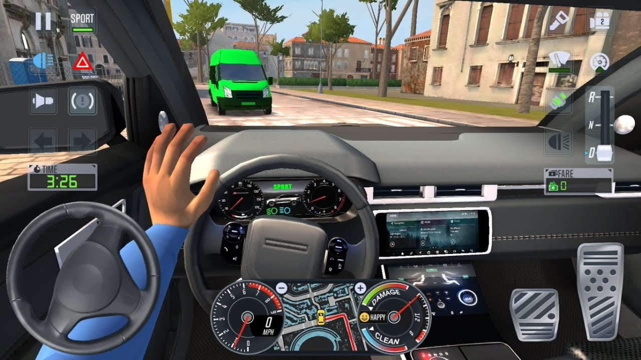 4X4 JEEP CARS UBER DRIVER 🚖🚀 Car Games 3D - Taxi Sim 2020 Android iOS Gameplay