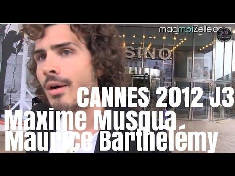 Cannes 2012 Jour 5 - Maxime Musqua en casting avec Maurice Barthélémy