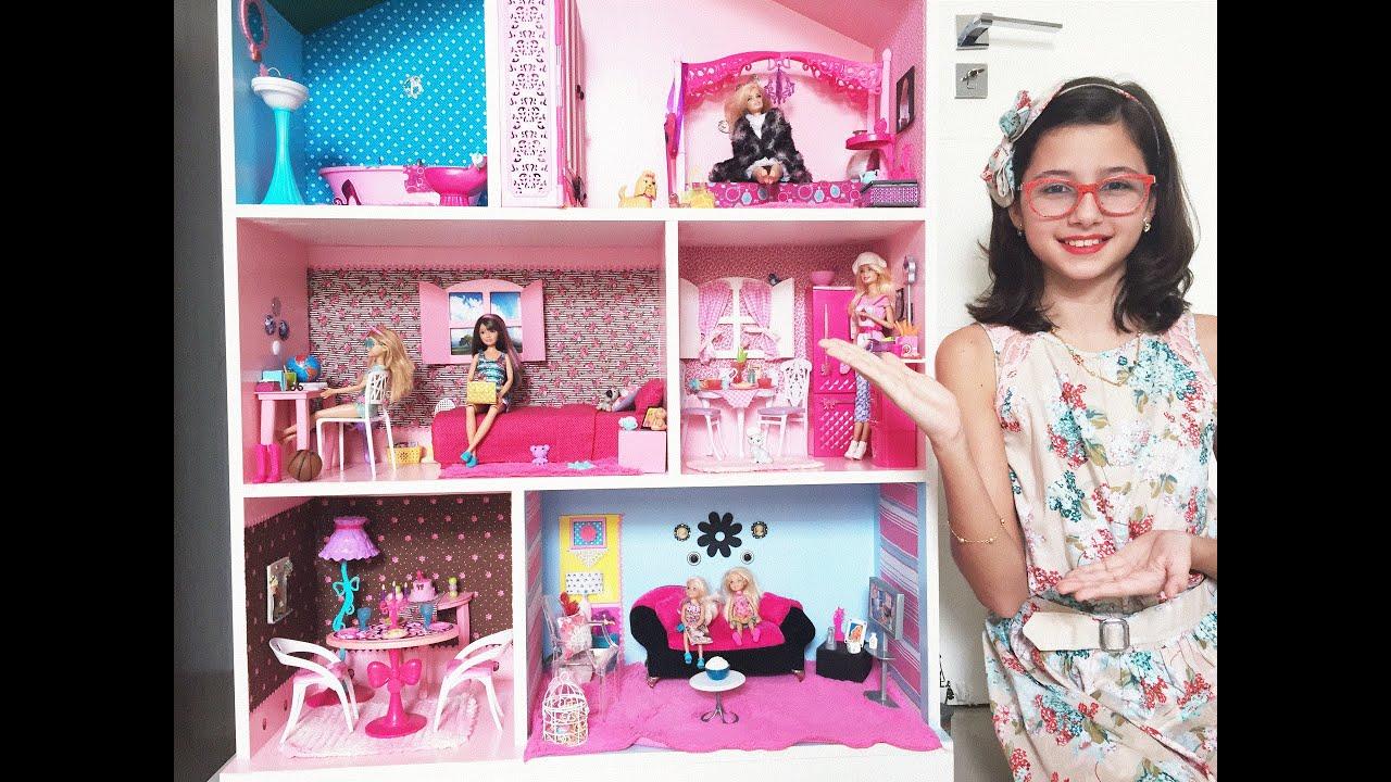 Decorando Minha Casa da Barbie Atualizada  Por Mikaela  YouTube