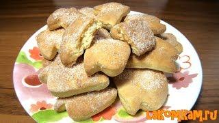 Печенье из дрожжевого теста (затраты 30 рублей). Экономный рецепт