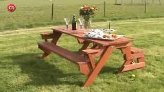 벤치로 변신하는 공간 절약형 테이블 ~!  - Bench Converts To Picnic Table