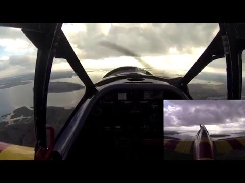 Flight on  North American T 6 TEXAN  over Florida