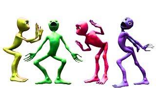 Belajar warna untuk anak | Pelajari warna dengan Alien Dance | Tokek