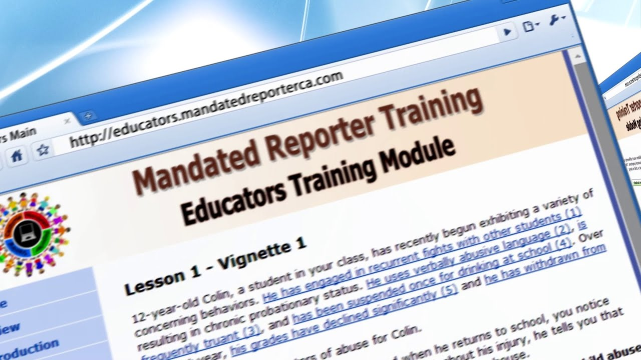 mandated reporting The human services learning center allows users to search an online course catalog, register for classes and not-for-profit agencies, as well as, day care providers, individuals who are mandated reporters, and foster and adoptive parents resources.