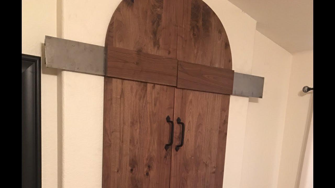 custom hardware bathroom barn door with hobart metal fab hardware - Bathroom Barn Door