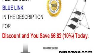 Hailo 4343-001 Safety Plus 330-pound Capacity Step Stool 3-step