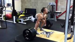 Jean-Jacques Barrett Snatch Grip Deadlift 5 reps for 315lbs