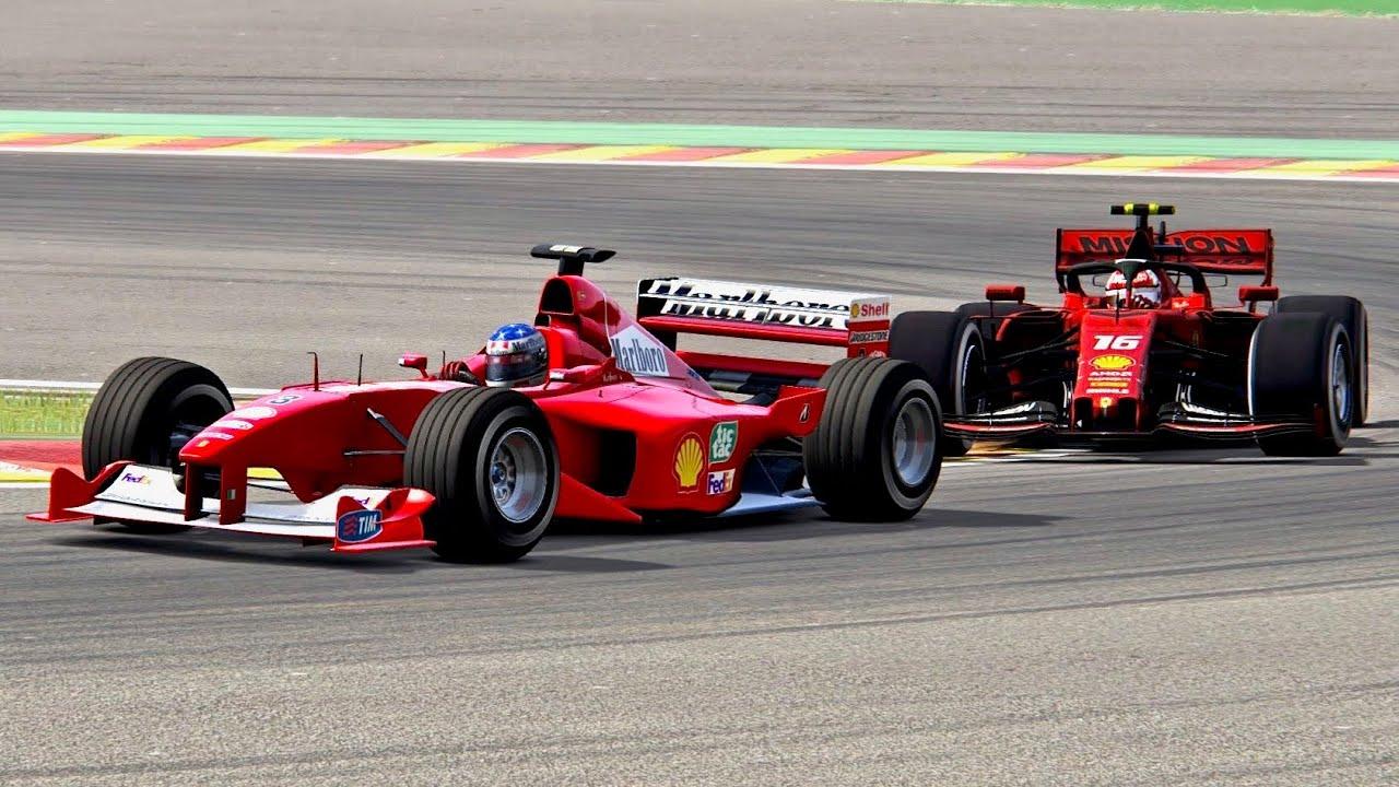 Ferrari F1 2019 Vs Ferrari F1 2000 Spa Youtube