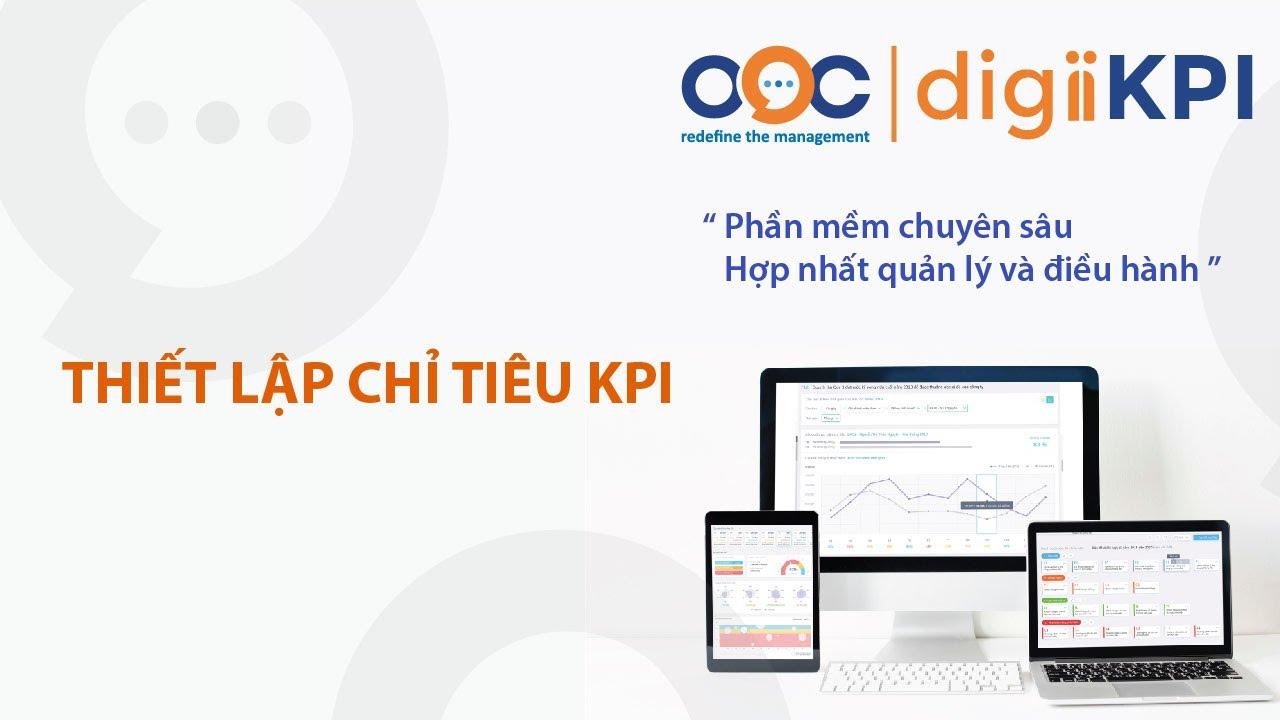 Phần mềm KPI – Phần mềm digiiKPI – Bước 3: Thiết lập chỉ tiêu KPI