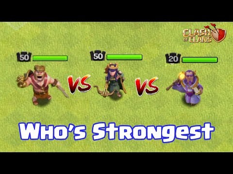 BARBARIAN KING VS ARCHER QUEEN VS GRAND WARDEN | WHO's STRONGEST | CLASH OF CLANS |