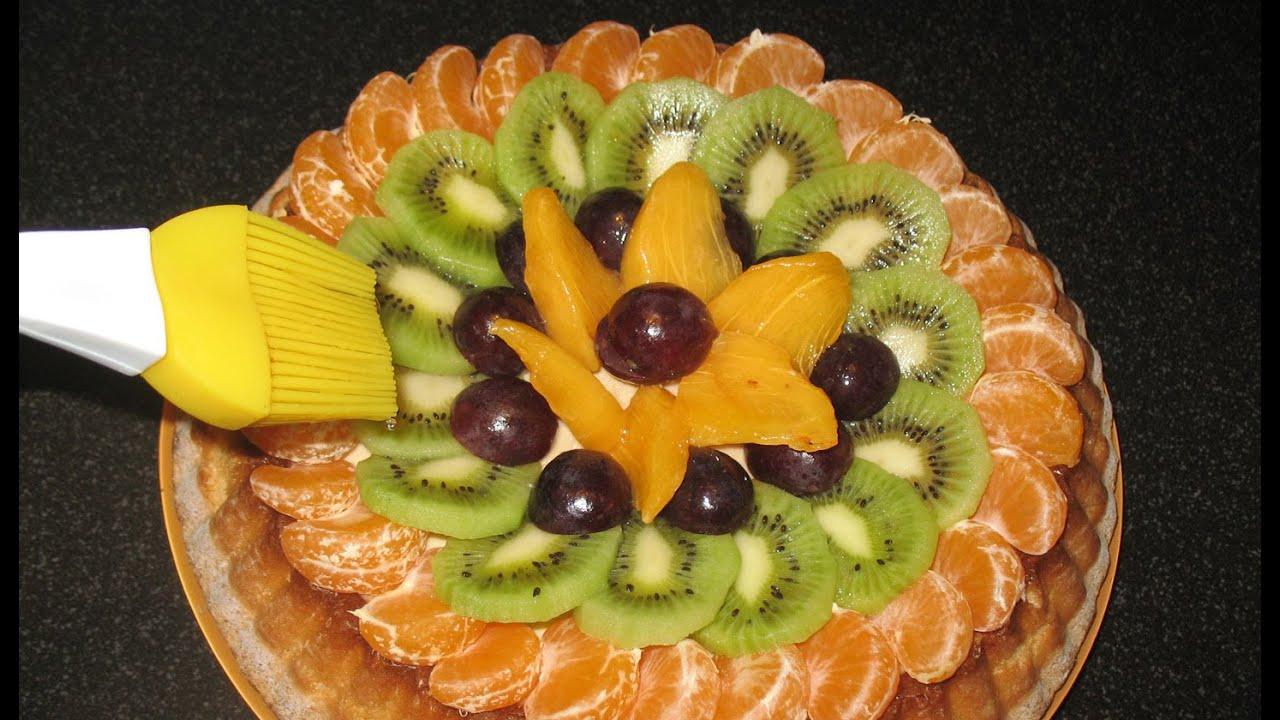 Торт с фруктами. Простой торт. - YouTube