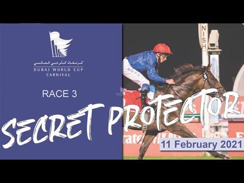 Secret Protector wins the 1900m conditions turf contest I Racing At Meydan I Race 3 I Meydan Trophy