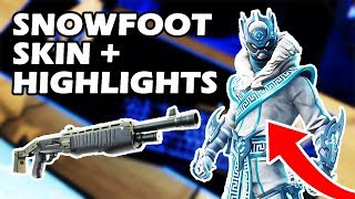 NEW SNOWFOOT SKIN! (HIGHLIGHTS & TIPS) + KEYBOARD CAM (Fortnite Battle Royale)
