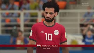 World Cup 2018 - Egypt vs Uruguay - Group A Full Match Sim (FIFA 18)