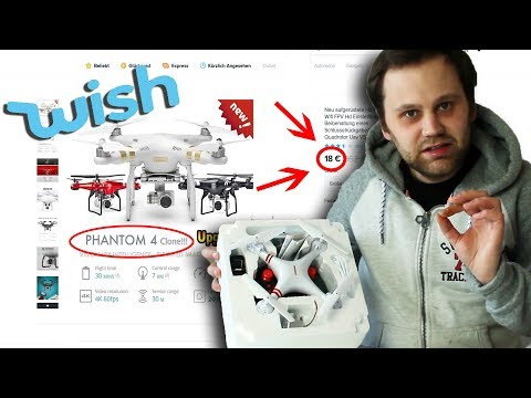 DJI Phantom 4 Drohne FAKE Von WISH Im Test | Testyboy
