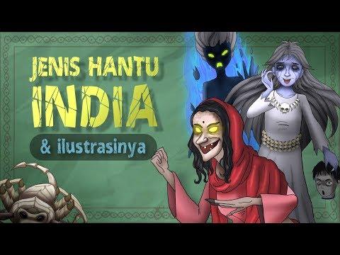 Jenis Hantu India & Ilustrasinya,  Kartun Hantu & Cerita Misteri Horor indonesia #HORORTIME