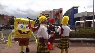 The Absurdist Pipe Band. Wearing out the sponge