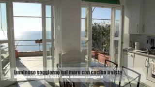 ZOAGLI AFFITTO - appartamento vista mare con terrazza e spiaggia privata