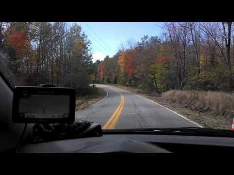 Fall Driving in Maine ( radio is sorta loud )