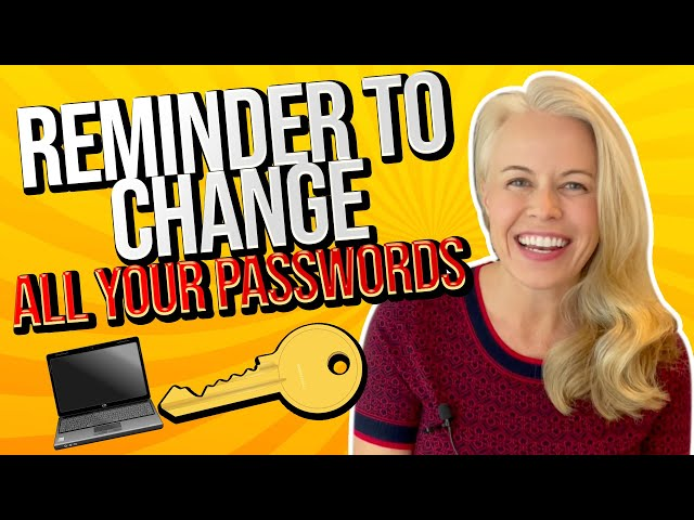 Money Management Monday: Change Your Passwords For All Banks, Credit Cards and Finances 🔑💰
