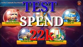 Capsule Toy Machine event - test spend 22k   Legacy of Discord