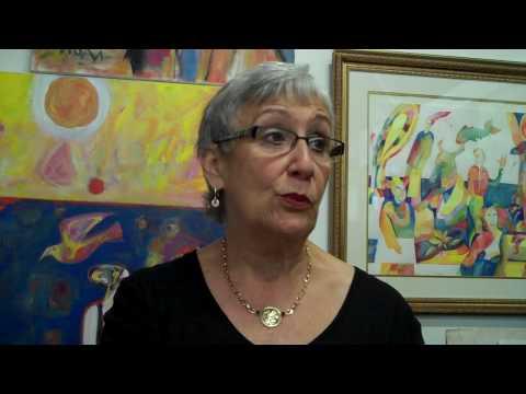 Louise Barrett the Widow of Artist Jack Barrett