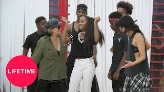"""Bring It!: Rehearsing the Pink Heart ft. Faith Music Video for """"Strong"""" (S5)   Lifetime"""