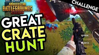 THE GREAT PUBG MOBILE CRATE HUNT - Loot Them ALL!