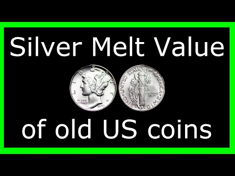 #MGTOW Money:  Silver Melt value of old US coins.