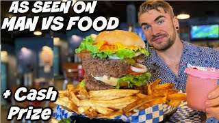 Famous Whammy Burger Challenge From Man Vs Food | Jackson Mississippi |