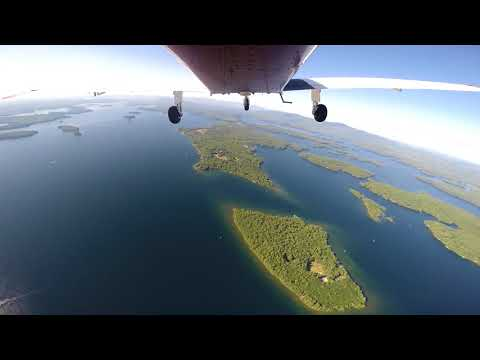 Beautiful Aerial Tour of Lake Winnipesaukee Departing Laconia Airport (KLCI) - Time Lapse