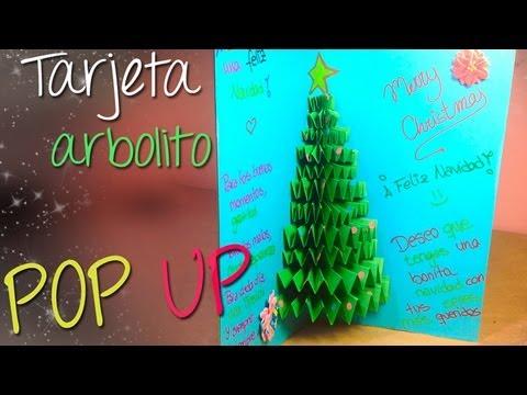 Tarjeta arbolito de navidad pop up 3d tarjeta navide a - Como realizar tarjetas navidenas ...