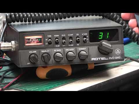 Rotel RVC240 CB27/81 UK FM CB radio - On The Air test