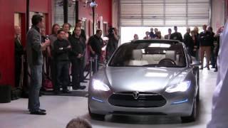 Tesla Model S Premier in Menlo Park [Clean Power Show]
