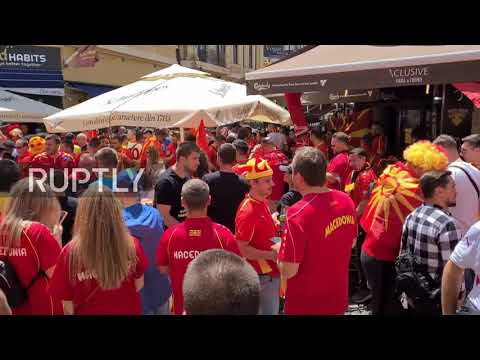 Romania: North Macedonia footy fans gear up in Bucharest ahead of Ukraine clash