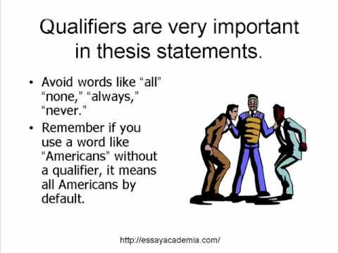 positive thesis statements 05032018  refine and polish the thesis statement  to get to your final thesis, you'll need to refine your draft thesis so that it's specific and arguable.
