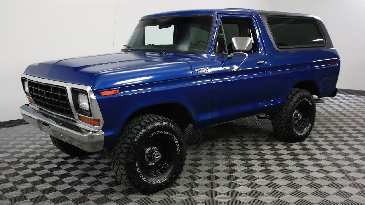 1979 ford bronco blue