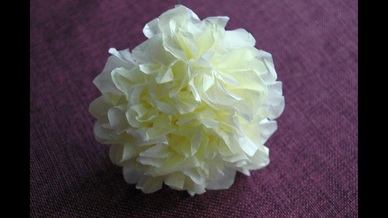 Jak Zrobic Kwiatek Z Bibuly Tissue Flowers Diy Youtube