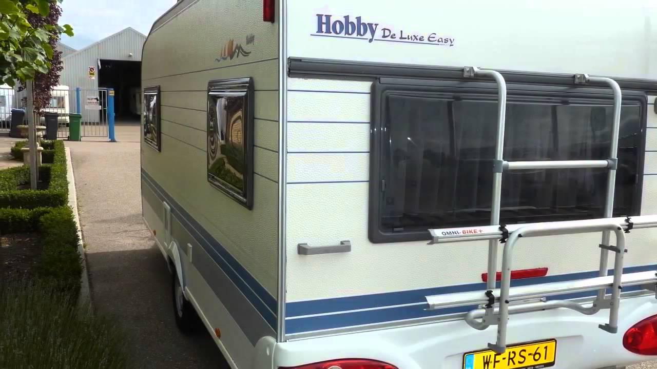 caravan te koop hobby de luxe easy 495 ul 2002 youtube. Black Bedroom Furniture Sets. Home Design Ideas