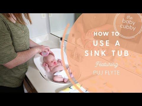 איך  להשתמש באמבטיית הכיור Puj Flyte