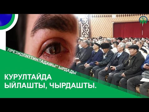 """Курултайда ыйлашты, чырдашты. Президенттин """"адамы"""" Кененбаев болсо ырдады"""