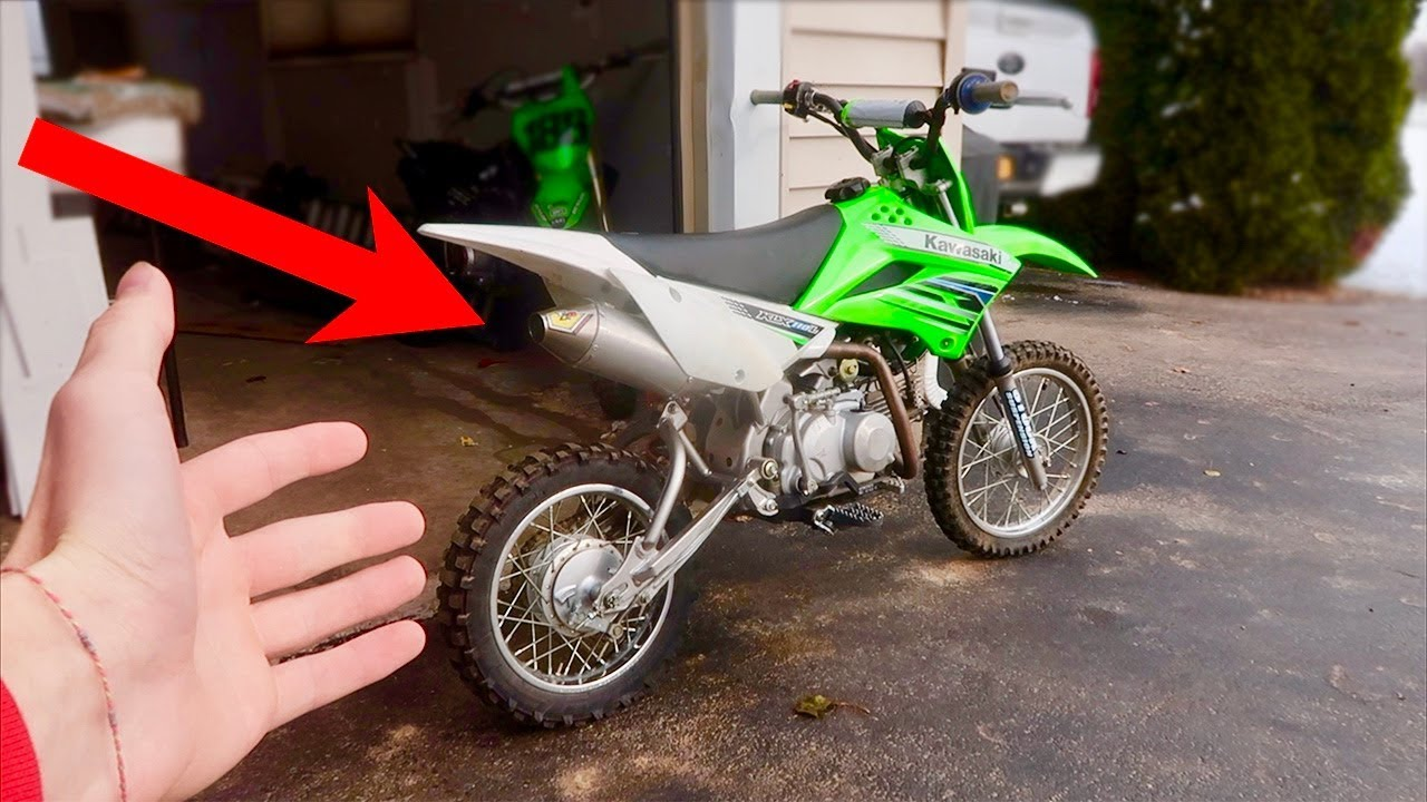 full size pro circuit exhaust on a pit bike