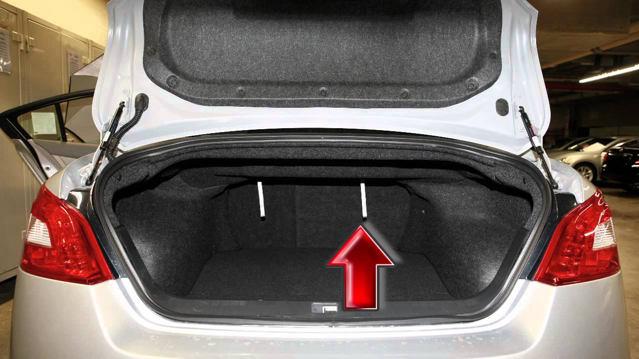 2012 Nissan Maxima Folding Down The Rear Seats Youtube