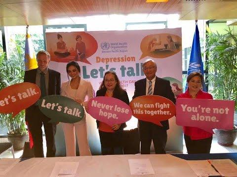 "KYLIE VERZOSA Speaks at World Health Day 2017 ""Depression - Let's talk"""