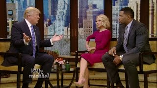 Donald Trump on LIVE with Kelly and Mcihael