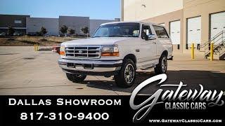 1996 Ford Bronco #1161 DFW Gateway Classic Cars