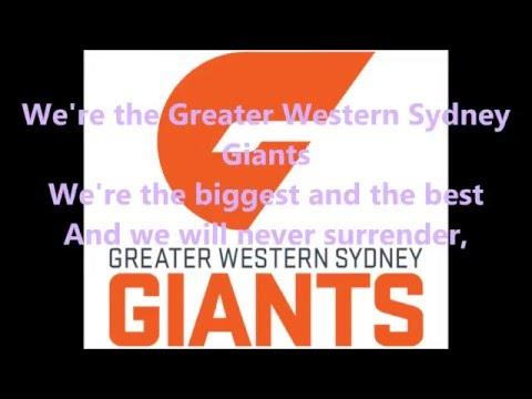 Greater Western Sydney Giants theme song (Lyrics) AFL Sing-A-Long