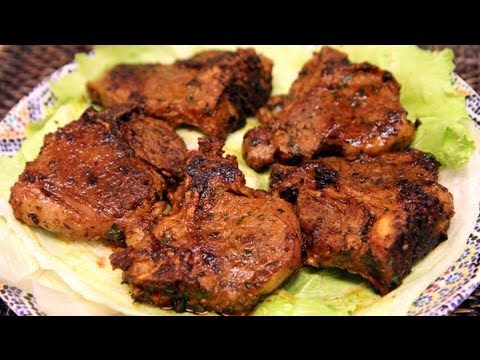 Moroccan Grilled Lamb Chops Recipe - CookingWithAlia - Episode 212